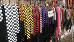 Photo: A selection of belts in a shop; copyright: panthermedia.net / Wilfried Martin